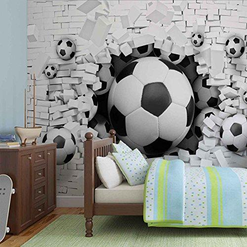 fussball-durch-die-mauer-forwall-fototapete-tapete-fotomural-mural-wandbild-3383wm-xl-208cm-x-146cm-