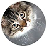 Snuggle I dv_397 - Tappetino per il mouse con gatto, quadrato, in plastica, misura standard, antiscivolo, motivo: I per ragazze e ragazze 22 cm Katzenblick