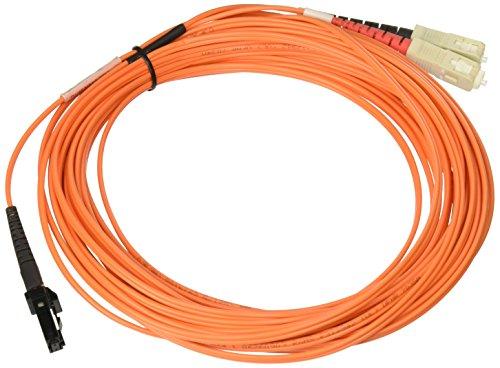Tripp Lite Duplex Multimode 62.5/125Fiber Patch Cable (MTRJ/SC), 8m-Fiber Optic Cables (8m, MT-RJ, 2x SC, Male/Male, OFNR, Beige, Black, Multi-Mode) -