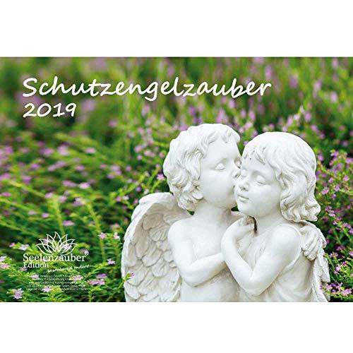 Schutzengelzauber · DIN A4 · Premium Kalender 2019 · Schutzengel · Engel · Glaube · Religion · Schutz · Madonna · Kirche · Geschenk-Set mit 1 Grußkarte und 1 Weihnachtskarte · Edition Seelenzauber