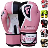 Farabi Pro Fighter Boxing Gloves Sparring Gym Bag Punching Focus Pad Mitts (Pink, 14Oz) - Farabi - amazon.co.uk