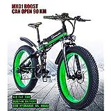 Liu Yu·casa creativa 1000W Fat Electric Bike 48V Mens Mountain E Bike 21 Velocidades 26 Pulgadas Fat Tire Road Bicicleta Snow Bike Pedals (Batería de Litio extraíble)
