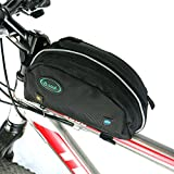 Ezyoutdoor Bicycle Wedge Frame TopTube Bag Bike Pouch with Concealed Quick-Access Opening High Visibility bag for Riding Bicycle Bike Camping Hiking Black