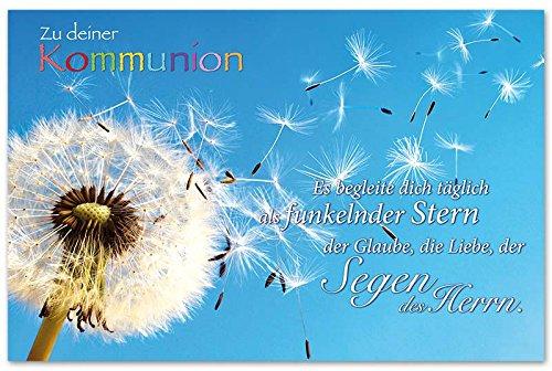 10 Glückwunschkarten zur Kommunion Pusteblume Spruch Grußkarten Hüllen 120-1434