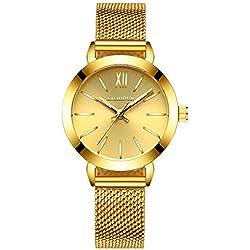 fashion steel Women Watch/Simple girls waterproof watch/ ladies quartz watch and leisure-C