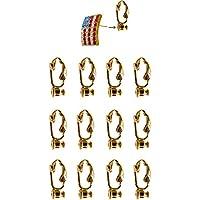 Evelots 12pezzi oro Clip-on Orecchini convertitore trasforma qualsiasi Post/perno in clip