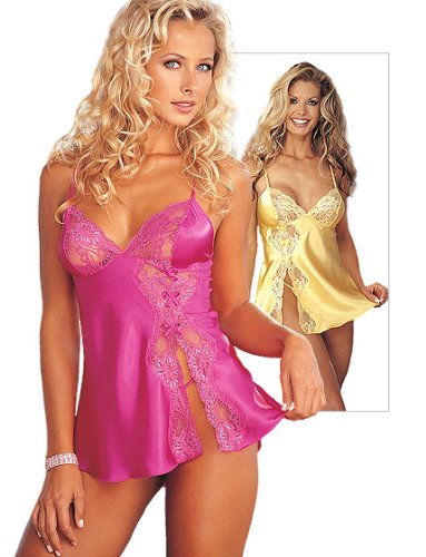 Shirley of Hollywood x20016Baby Puppe Bekleidung, Passion Pink, 3X - Charmeuse Babydoll Set