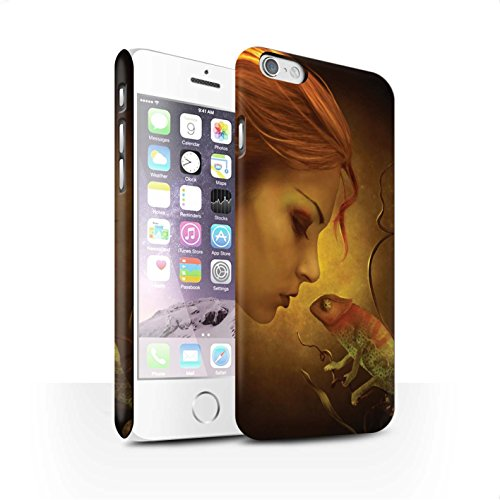 Officiel Elena Dudina Coque / Clipser Matte Etui pour Apple iPhone 6S / Écailles Vertes Design / Dragon Reptile Collection Cameleon