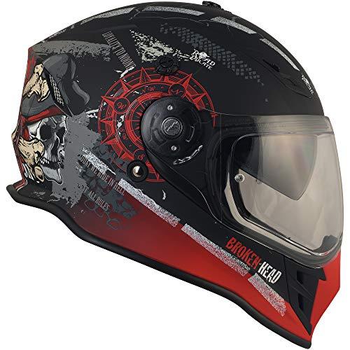 Broken Head Road Pirate Cross-Helm mit Visier | Endurohelm – MX Motocross Helm mit Sonnenblende – Quad-Helm Größe M (57-58 cm) - 9