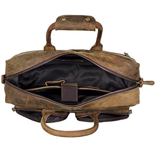 ... STILORD Henri Borsa ufficio lavoro in pelle Cartella uomo donna con  tracolla Porta documenti e PC ... 320e8b1327b
