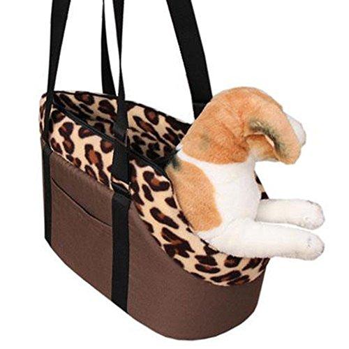 Imagen para OWIKAR - Bolso de Mano para Mascotas con Cremallera, tamaño pequeño, Mediano, para Mascotas, Cachorros, Gatos, Viajes, al Aire Libre, Estampado, Bolsa de Hombro, cálida, diseño de Color Azul