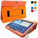 Galaxy Tab 3 10.1 Zoll Hülle (Orange), SnuggTM - Smart Case mit lebenslanger Garantie