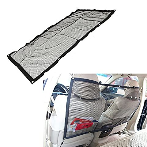 Haosen Backseat Pet Barrier Mesh - Breathable Safety Car Dog Guard Divider for Car, SUV and Jeep 115x62CM(45x24