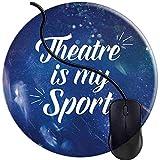 Théâtre par intérim Adolescent Tapis de Souris Acteur Gaming Base antidérapante en Caoutchouc Tapis de Souris Confortable Bords durables Cousus Jeu Rond (0,3 cm * 20 cm * 20 cm)...