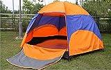 Lijincheng Tente 5 Personne Hexagone Tente de yourte mongole antipluie Anti-UV Respirant Double Couche Tente de Camping for Le Camping en Plein air Haut recommandé (Color : Orange)