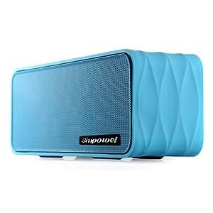Polaris V8 - 9W (4. 5W X 2) orateur de Bluetooth portatif avec lPolaris V8 Haut-parleur Bluetooth Portable Avec Radio FM, Lecteur Mp3 Micro SD/FT Carte, NFC et Batterie Amovible 18650 Li-ion - Haut-Parleur Sans Fil 9W (4.5W X 2) Avec Radiateur Passif - Bleu