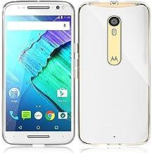 Motorola Moto X Style Funda, iVoler TPU Silicona Case Cover Dura Parachoques Carcasa Funda Bumper para Motorola Moto X Style, [Ultra-delgado] [Shock-Absorción] [Anti-Arañazos] [Transparente]- Garantía Incondicional de 18 Meses