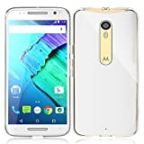 iVoler Motorola Moto X Style Case, Transparent Flexible Silicone Soft TPU Gel Resilient Shock Absorption Bumper Protective Cover