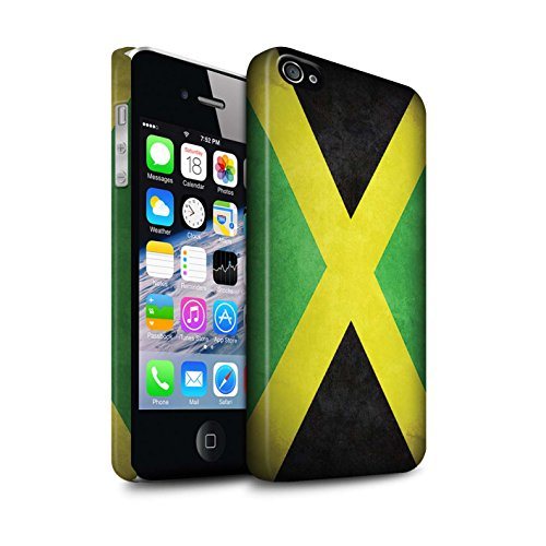 STUFF4 Matte Snap-On Hülle / Case für Apple iPhone X/10 / Australien/australisch Muster / Flagge Kollektion Jamaika/Jamaikanische