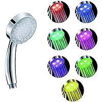 Hosaire Ducha de mano ducha fija 7 LED de color cabezal de ducha de baño ducha ducha del aerosol fuerte de ducha