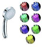 Hosaire Ducha de mano ducha fija 7 LED de color cabezal de ducha de baño ducha ducha del aerosol...