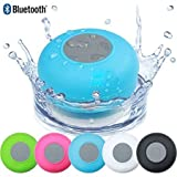 #3: eCosmos || Water Proof Bluetooth Shower Speaker With Mic Wireless Stereo Shower Speakers Portable Waterproof Bluetooth Wireless Stereo Shower Speakers, - Best for Bath, Pool, Car, Beach, Indoor/Outdoor Use (Random Colors )