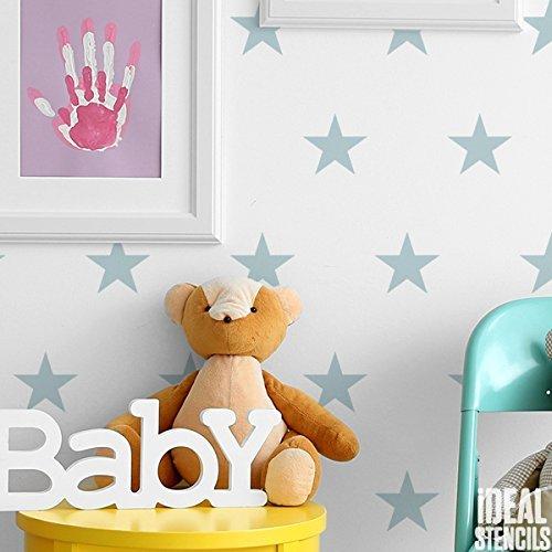 ... Sterne Dupliziert Muster Kinderzimmer Wand Schablone Jungen U0026 Mädchen  Kinderzimmer Heim Wand Dekoration U0026 Handwerk Schablone ...