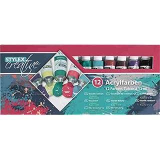 Toppoint 28651 Acrylfarbe, 12er Schachtel, à 12 ml
