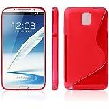 Katinkas Wave Style Coque en TPU pour Samsung Note 3 N9005/N9002/N9000 Rouge