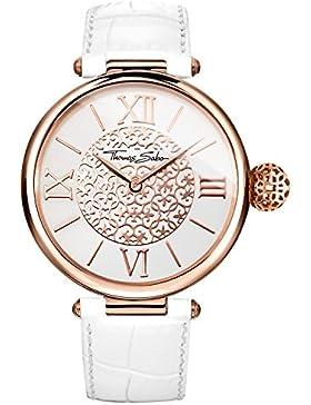 Thomas Sabo Damen-Armbanduhr Karma Rosegold Weiß Analog Quarz