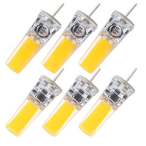 GRV G5.3 COB 2508 4W AC12V DC12~24V GX5.3 bi pin Basis Kabinett Led Silikon Licht Kristall 35w Halogen Track Birne Ersatz Warmweiß 6 Stück - 4-track-lichter
