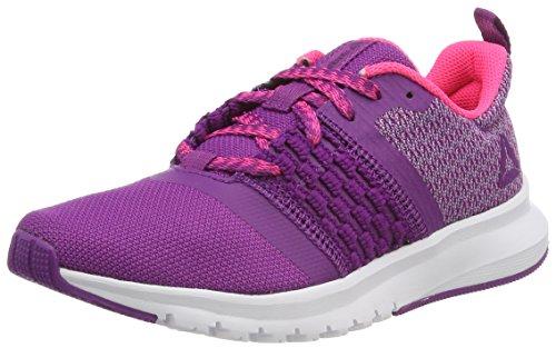 Reebok Print Lite Rush, Zapatillas de Trail Running para Mujer, Morado (Aubergine/Purple Fog/Acid Pink/White 000)
