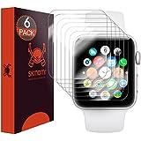Skinomi TechSkin - Protection d'écran pour Apple Watch 42mm Series 2 (protège l'écran dans son intégralité), lot de 6