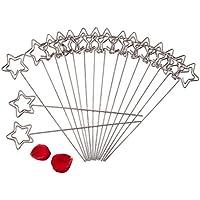 Foto Sostenedor de la Nota Soporte de Navidad Memo pinza de Clip DIY crafts Soporte Metálico Para la tarjeta de Memo imágenes de la boda Decoración 50 piezas por bolsa (estrella)