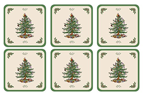 Pimpernel Spode Christmas Tree Untersetzer (4) 4 Spode Christmas Tree