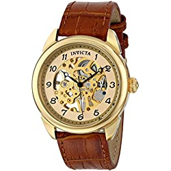 Invicta 17188 42mm Stainless Steel Case Brown Calfskin flame fusion Men's Watch
