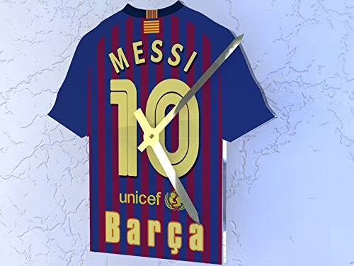newest 73cc3 4c6cf FanPlastic LIONEL MESSI 10 - FC BARCELONA FOOTBALL KIT CLOCK - FOOTBALL  LEGENDS LIMITED EDITION - NEW ACRYLIC SHIRT DESIGN !!!