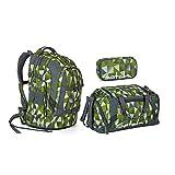 Satch Pack - 3 tlg. Set Schulrucksack - Farbauswahl - Schulrucksack + Sporttasche + Schlamperbox (Satch Pack Green Crush Schulrucksack Set 3tlg.)