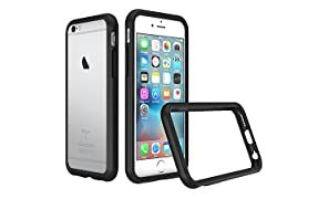 RhinoShield Bumper Case FOR IPHONE 6 / IPHONE 6s [NOT Plus] [CrashGuard] | Shock Absorbent Slim Design Protective Cover [3.5 M / 11ft Drop Protection] - Black