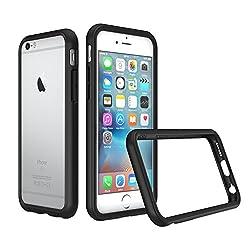 RhinoShield Bumper Case für iPhone 6 / iPhone 6S CrashGuard - Schockabsorbierende Dünne Schutzhülle 3.5 Meter Fallschutz - Schwarz