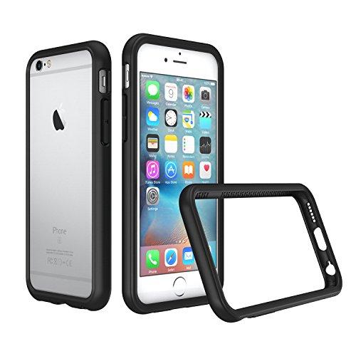 iPhone 6 / iPhone 6s Bumper Case [RhinoShield CrashGuard]   Schock Absorbierende Schutzhülle mit minimalistischem Design [3,5 Meter Fallschutz] - Schwarz (Iphone 6 Schutzfolie Shield)