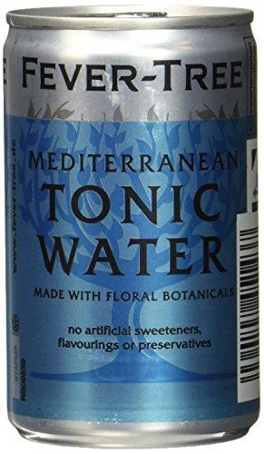 Fever-Tree Mediterranean Tonic Water, 3er Fridgepack, 24 (3x8) Dosen, EINWEG (24 x 150 ml)