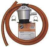 MT - tubo manguera butano 1,5 metros + abrazaderas + regulador