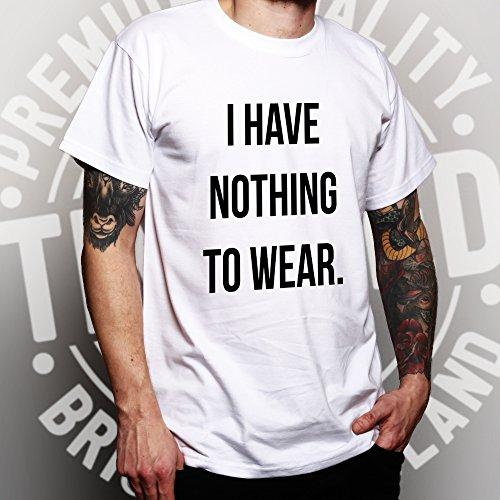 Ich habe nichts zu Slogan kühle Sassy Mode Trend Blogger Wear Herren T-Shirt Dark Grey
