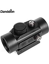 DANDELION 1 x 40 Lunette de visée Tactical Red Dot Sight Illuminated Hunting Shooting Scope avec 22mm Rails de Montage pour Fusil, Pistolet, Airguns, Fusils de Chasse et Arcs
