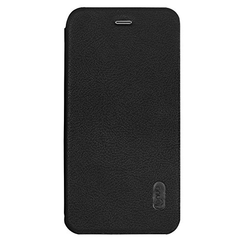 Hülle für iPhone 7 plus , Schutzhülle Für iPhone 7 Plus PU + PC Litchi Textur Horizontale Flip Leder Tasche mit Card Slots ,hülle für iPhone 7 plus , case for iphone 7 plus ( Color : Black ) Black