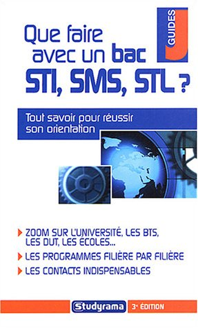 Que faire avec un bac STI, SMS, STL ?