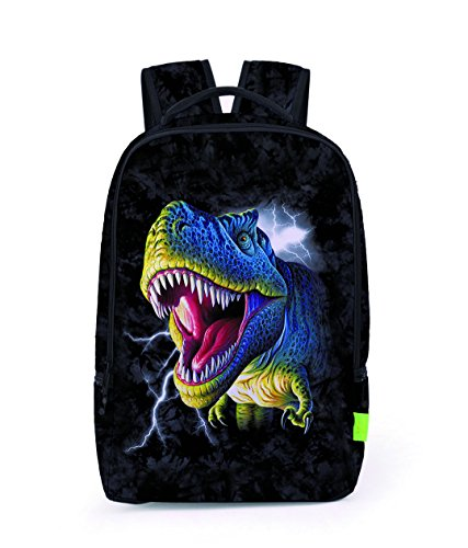 46a1b064d9 ZHANGOR 3D Imprimir Dinosaur Monkey Snake Mochila Estudiante Laptop  Polyester Bag Niños Y Niñas Bolsa De