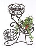 DanDiBo Blumentreppe HX12556 Blumenständer 65 cm mit 3 Körbe Hocker Blumenhocker Regal