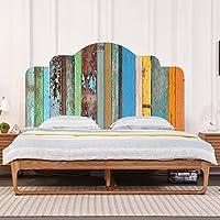 Gut Farben Vintage Holzmaserung DIY Wandaufkleber Schlafzimmer Dekor Kopfteil  Möbel Bett Aufkleber Einfach Zu Bewerben (twin